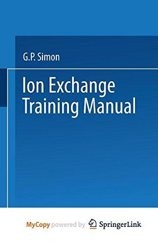 9789401574419: Ion Exchange Training Manual