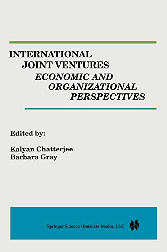 9789401719469: International Joint Ventures: Economic and Organizational Perspectives