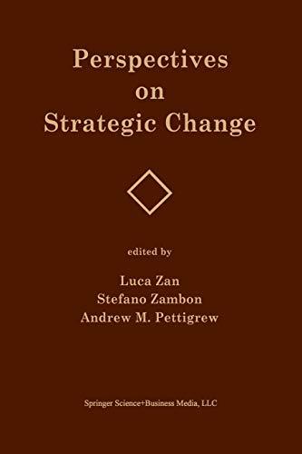 9789401741927: Perspectives on Strategic Change