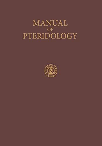 Manual of Pteridology: Verdoorn, Frans