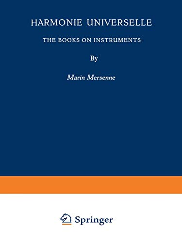 9789401757812: Harmonie Universelle: The Books on Instruments