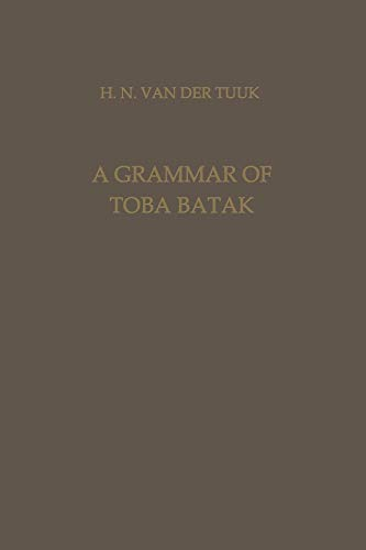 9789401767071: A Grammar of Toba Batak