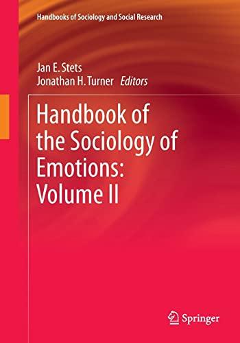 9789401773447: Handbook of the Sociology of Emotions: Volume II