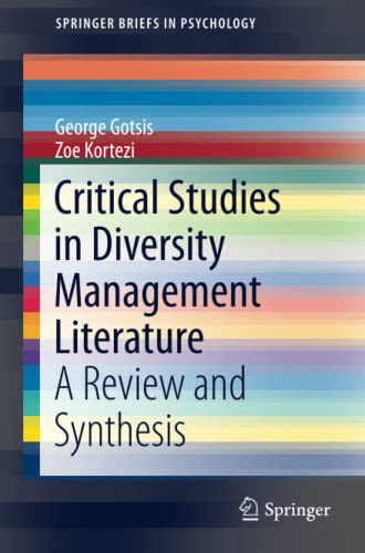 9789401794749: Critical Studies in Diversity Management Literature: A Review and Synthesis (SpringerBriefs in Psychology)