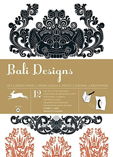 9789460090578: 12 gift wrapping paper book Bali Designs : Volume 45 (Pepin Gift Wrap)