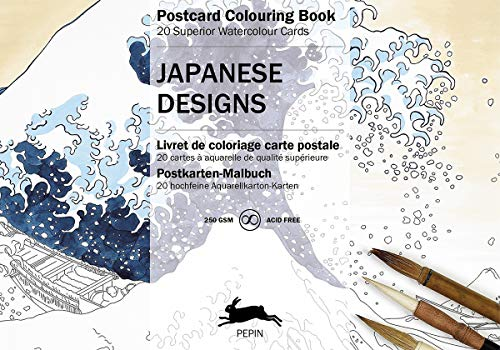 9789460096068: Japanese Designs: Postcard Colouring Book; 20 superior watercolour cards