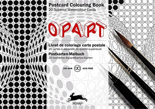 9789460096228: Op Art (Postcard Colouring Book) (Postcard Colouring Books)
