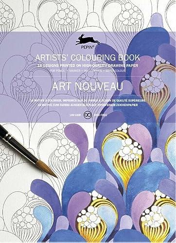 9789460098000: Art Nouveau: Künstler-Malbücher (Pepin Artist Colouring Book)