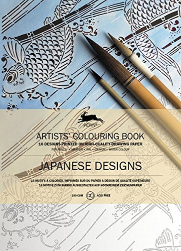 Japanese Designs: Artists' Colouring Books