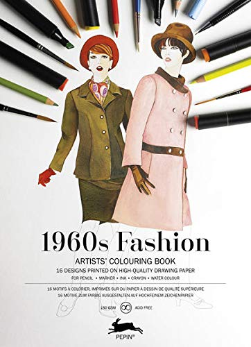1960s Fashion Artists Colouring Book By Pepin Van Roojen