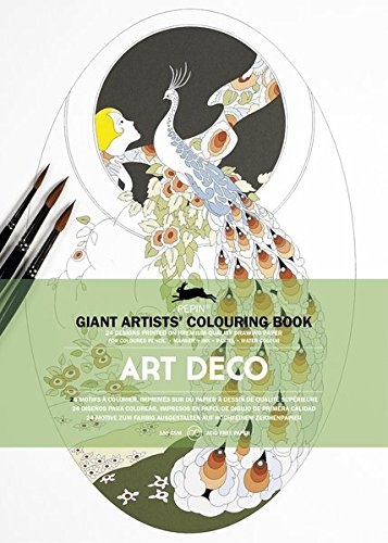 9789460098529: Art Deco: Giant Artists' Colouring Books