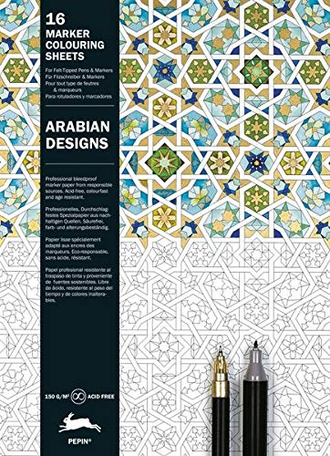 Arabian Patterns: Marker Colouring Sheets: Pepin Van Roojen