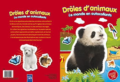 9789460332906: Drôles d'animaux (panda) : Le monde en autocollants