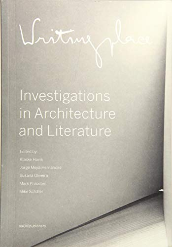 9789462082816: Writingplace: Investigations in Architecture and Literature