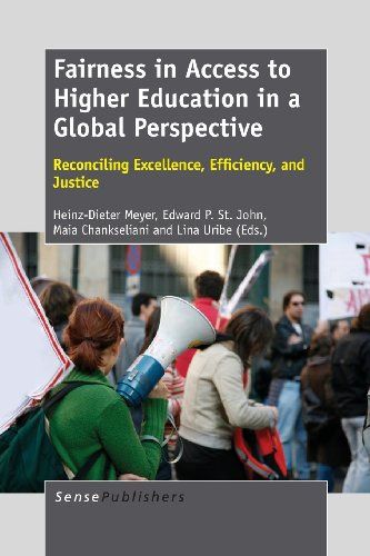 9789462092280: Fairness in Access to Higher Education in a Global Perspective: Reconciling Excellence, Efficiency, and Justice
