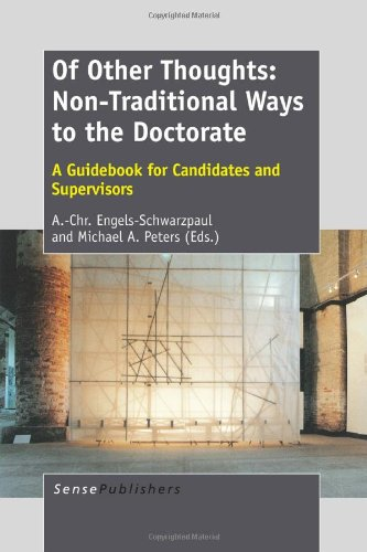 9789462093157: Of Other Thoughts: Non-Traditional Ways to the Doctorate: A Guidebook for Candidates and Supervisors
