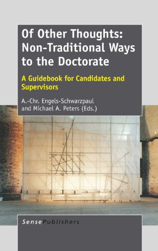 9789462093164: Of Other Thoughts: Non-Traditional Ways to the Doctorate: A Guidebook for Candidates and Supervisors