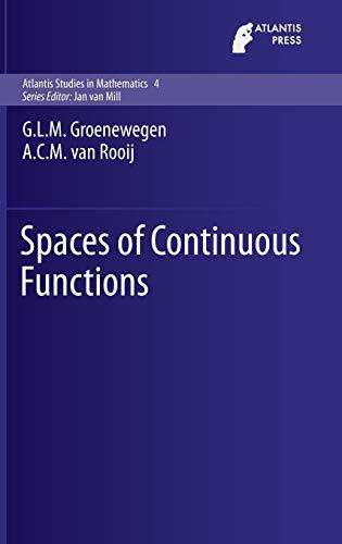 9789462392007: Spaces of Continuous Functions (Atlantis Studies in Mathematics)