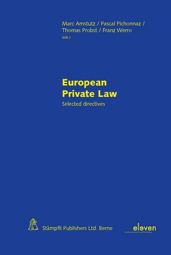 9789490947125: European Private Law: Selected Directives (Second Edition)