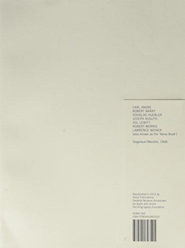 9789491843525: Siegelaub: The Xerox Book