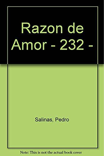 Razon de Amor - 232 - (Paperback): Pedro Salinas