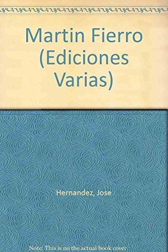 9789500377188: Martin Fierro (Ediciones Varias)