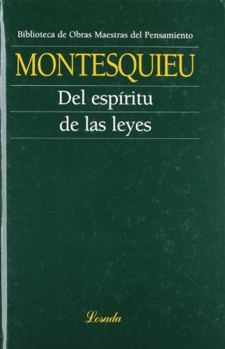 9789500395069: Del Espiritu De Las Leyes (Obras Maestras Pensamiento)