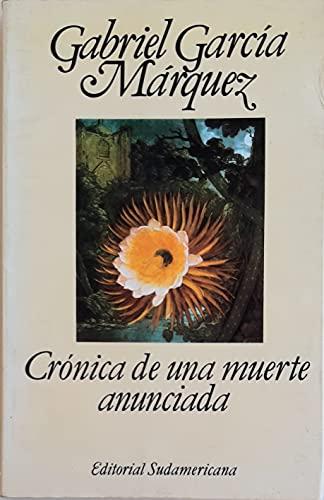 9789500704281: Cronica de una muerte anunciada (Spanish Edition)