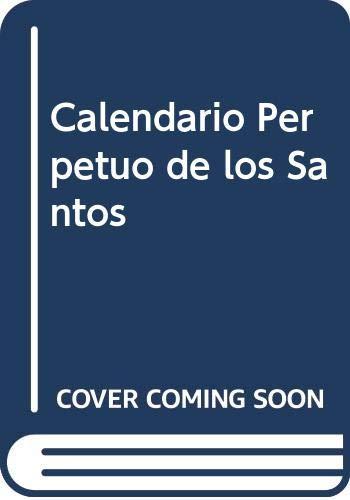 Calendario Santos.9789500709880 Calendario Perpetuo De Los Santos Spanish Edition