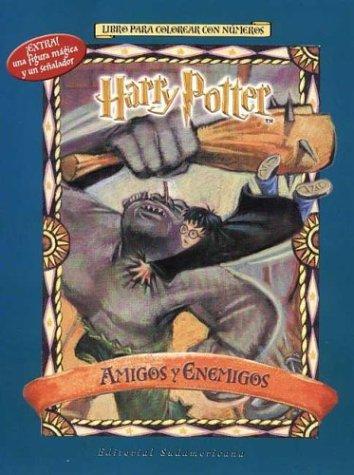 9789500721141: Harry Potter Amigos y Enemigos - Para Colorear (Spanish Edition)