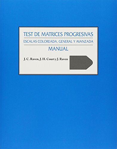 9789501260571: Test de Matrices Progresivas: Manual