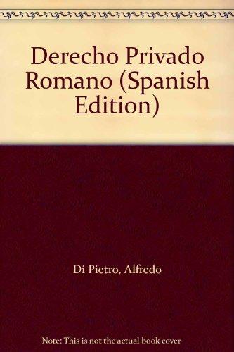 9789501417166: Derecho Privado Romano (Spanish Edition)