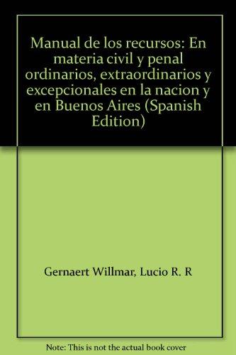 MANUAL DE LOS RECURSOS: GERNAERT WILLMAR, LUCIO
