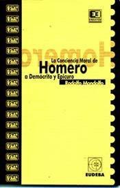 Conciencia Moral de Homero (Spanish Edition): Rodolfo Mondolfo