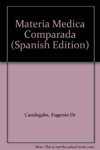 9789502400150: Materia Medica Comparada (Spanish Edition)