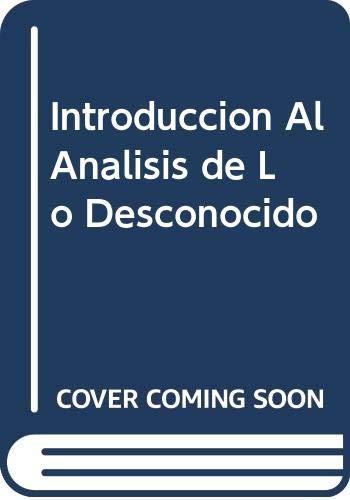 Introduccion Al Analisis de Lo Desconocido (Spanish Edition) (9505061862) by Philippe Hamon