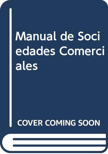 9789505085545: Manual de sociedades comerciales