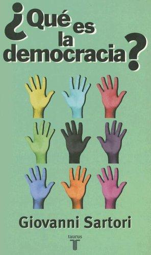 9789505118458: ¿que es la democracia?