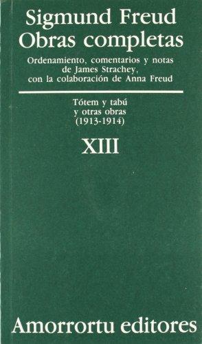 9789505185894: Obras Completas - Tomo XIII Totem y Tabu y Otras Obras (Spanish Edition)
