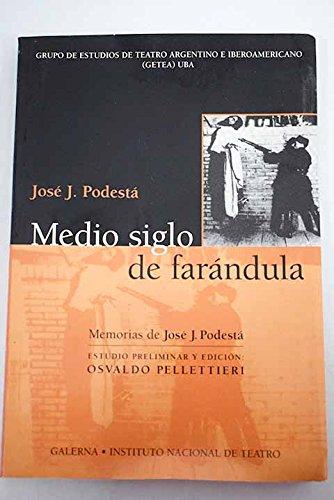 9789505564453: Medio Siglo de Farandula: Memorias de Jose J. Podesta (Coleccion Instituto Nacional del Teatro) (Spanish Edition)