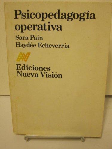 9789506020330: Psicopedagogia operativa