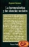9789506024413: Hermeneutica y Las Ciencias Sociales (Spanish Edition)