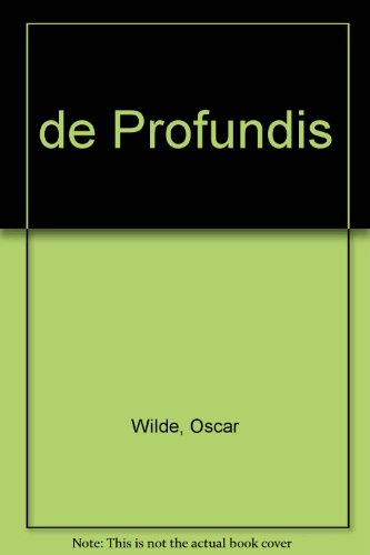 9789506393052: de Profundis (Spanish Edition)
