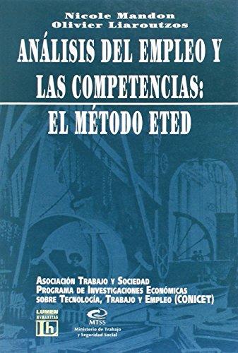 Análisis del empleo y las competencias : Mandon, Nicole -