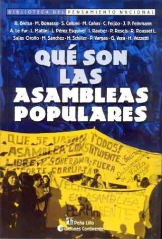 Que Son Las Asambleas Populares ? (Biblioteca: Miguel Bonasso; Stella