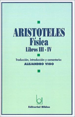 FISICA. LIBROS III-IV: ARISTOTELES