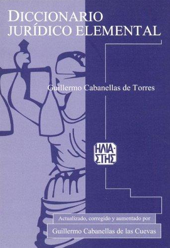 9789508850584: Diccionario juridico elemental