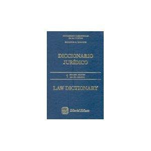 Diccionario Juridico / Law Dictionary English Spanish Ingles Espanol 2 Tomos: Cuevas, ...