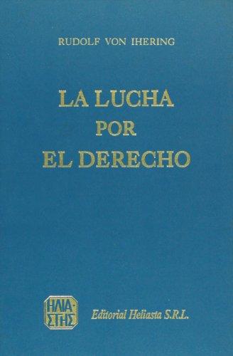 9789509065963: La lucha por el derecho (Spanish Edition)