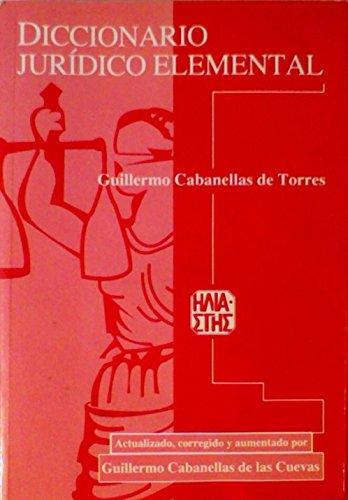 9789509065987: Diccionario Juridico Elemental (Spanish Edition)